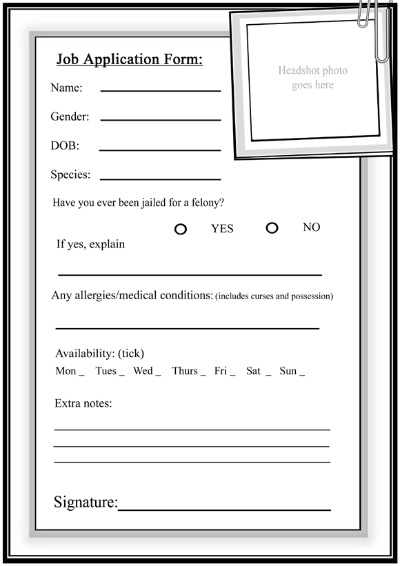 Blank Job Application For Students | Employment Application