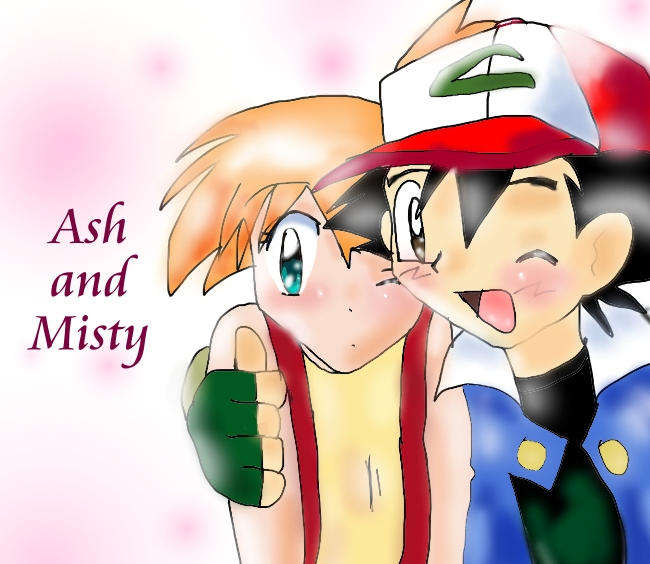 Ash and Misty by ~MoonLover on deviantART