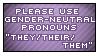 Gender Neutral Pronouns Stamp