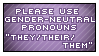 Gender Neutral Pronouns Stamp by MoonLover