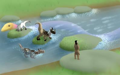 Aquatic hopscotch