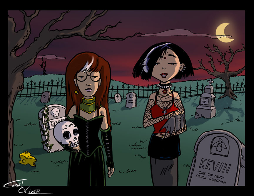 Gothic Daria And Jane By Christo LHiver