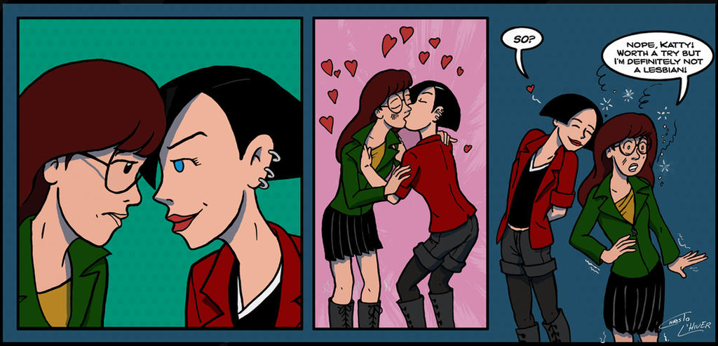 Another Daria And Jane Kissing By Christo LHiver