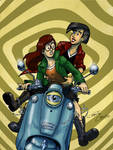 Front scooters #3/6 : Daria and Jane by Christo-LHiver