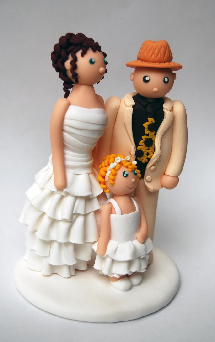 Tanja Cake Topper Artist : Cake Topper Wedding Cake by LaBotteghilla on deviantART