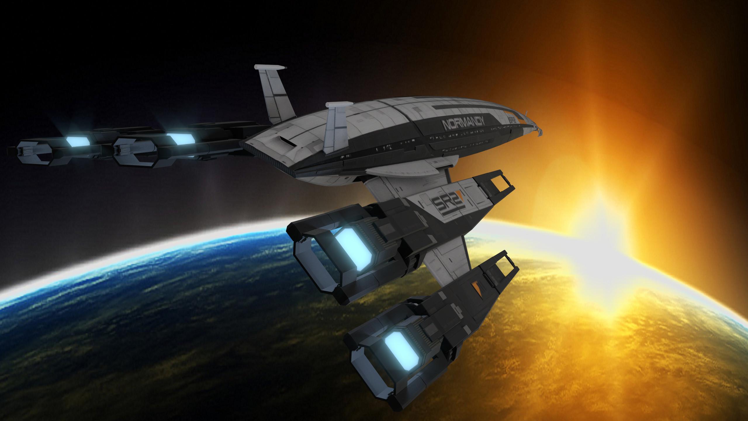 Ssv Normandy Sr 2 18 Ship Replica: SSV Normandy SR-2 (Mass Effect 2, Fanart By Stanislaw