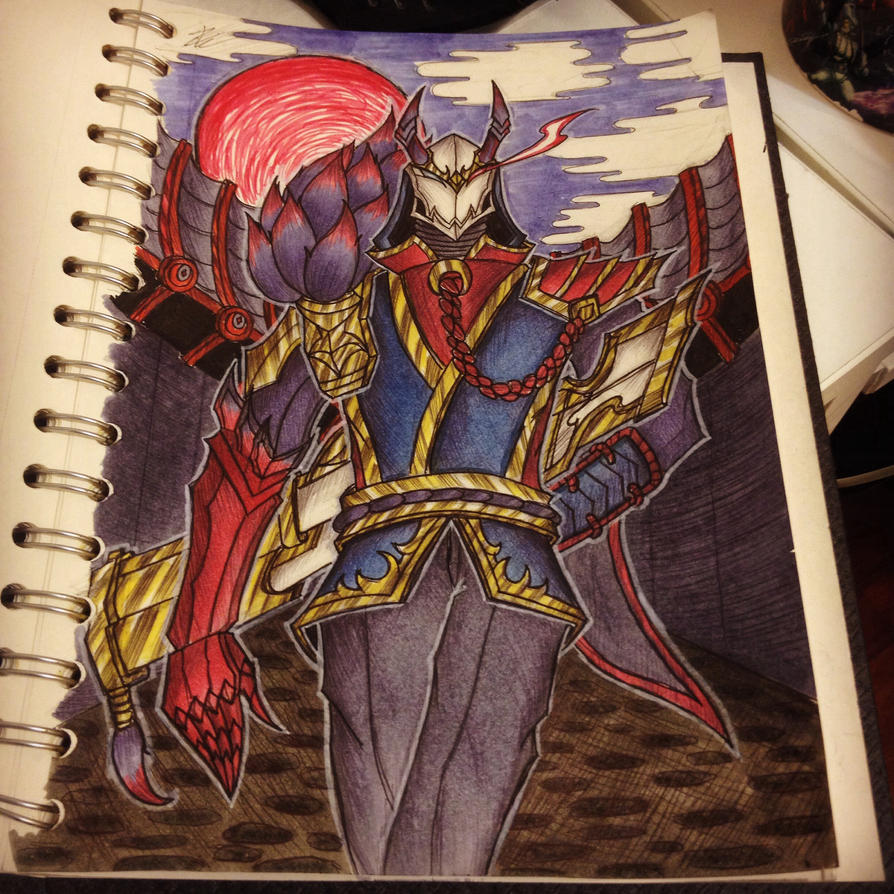 Bloodmoon Jhin by enzoZkatsuragi