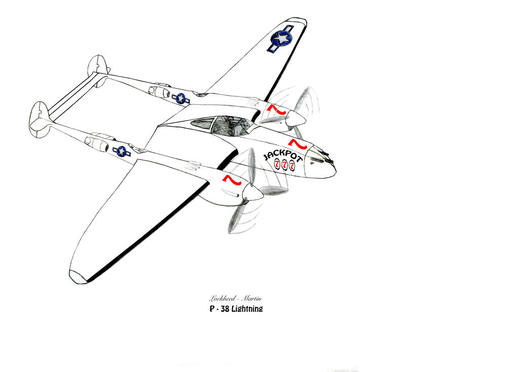 Lockheed-Martin P-38 Lightning Revised stage 2 by DBsTreasure