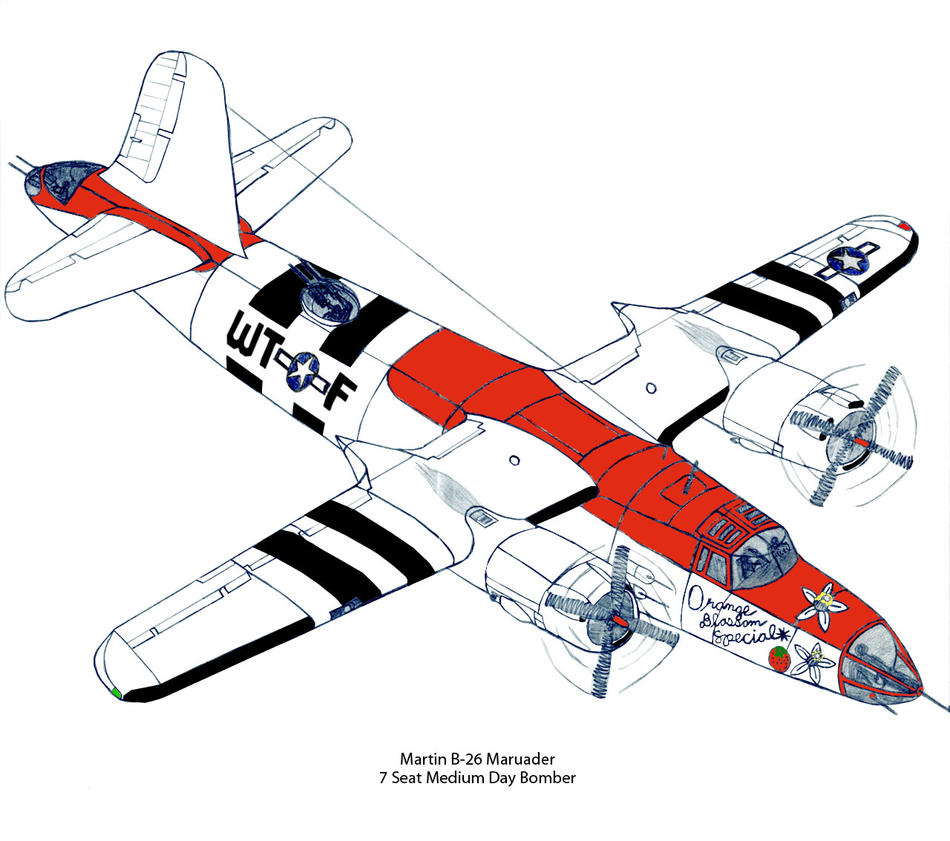 Martin B-26 Marauder Medium Bomber Revised Stage 2 by DBsTreasure