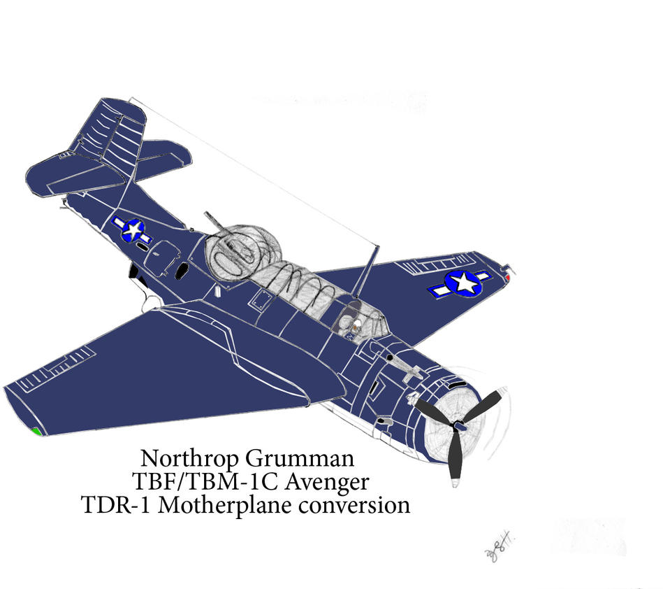 Grumman TBM-1C Avenger  Revised stage 2 by DBsTreasure