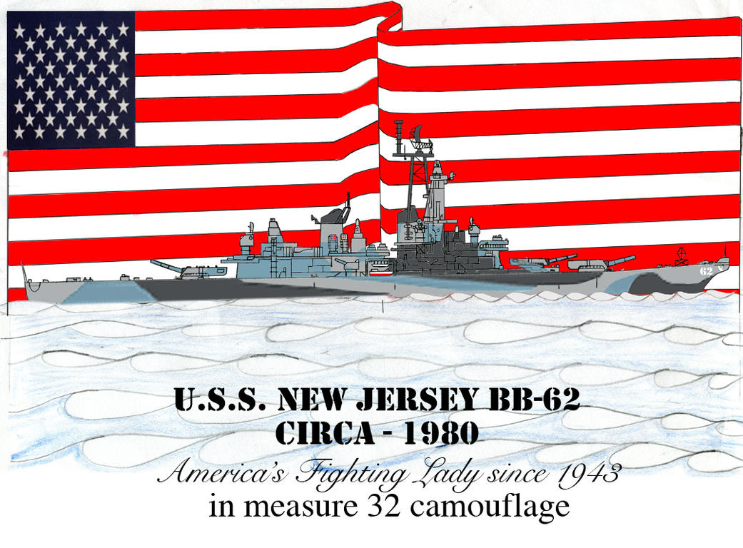 USS New Jersey Revised Stage 3 (M-32 camo sceme) by DBsTreasure