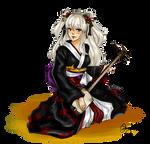 Commission: Shamisen Geisha