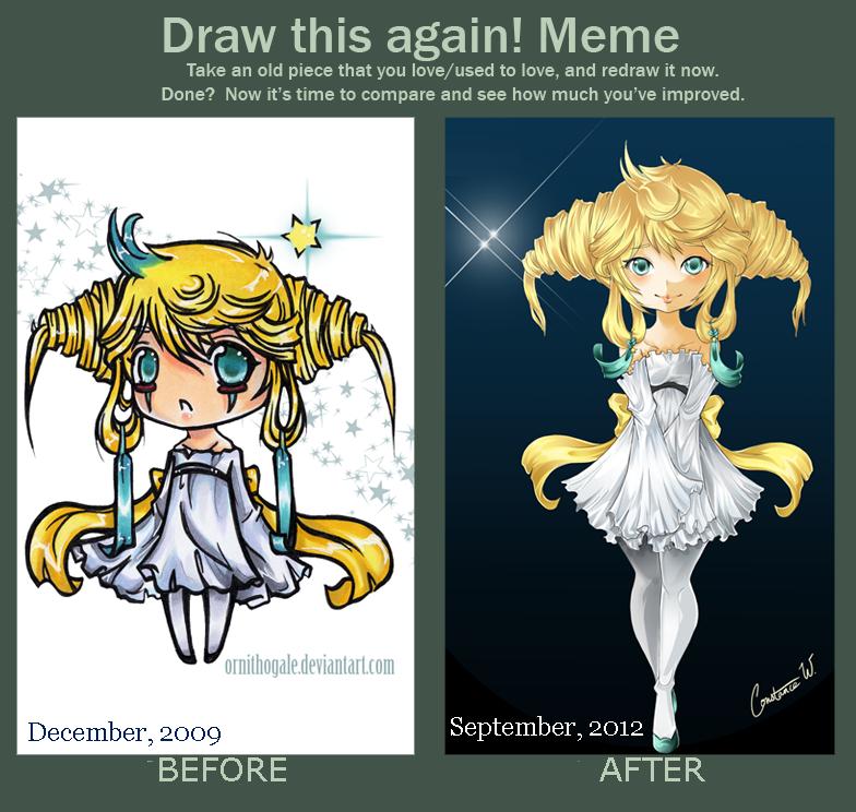 Draw it Again-- Jirachi Gijinka by Ornithogale