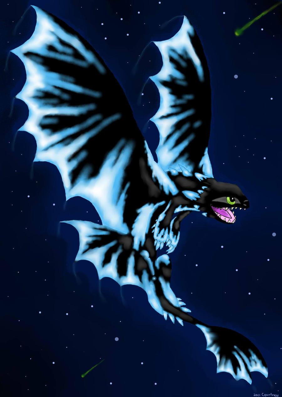 Night Fury Flying Wallpaper