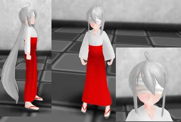 Shrine Maiden Haku - Finished Request by Blue-Sama