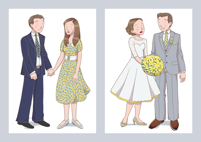 vintage wedding by mel-bot