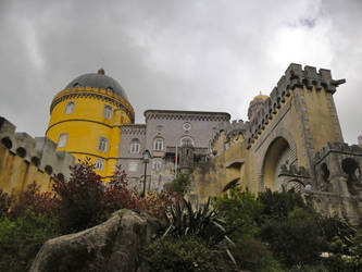 Castle with Clouds by SAOstrich