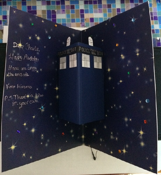 Doctor Who Birthday Card Inside June 2014 by Origami44 on DeviantArt – Dr Who Birthday Card