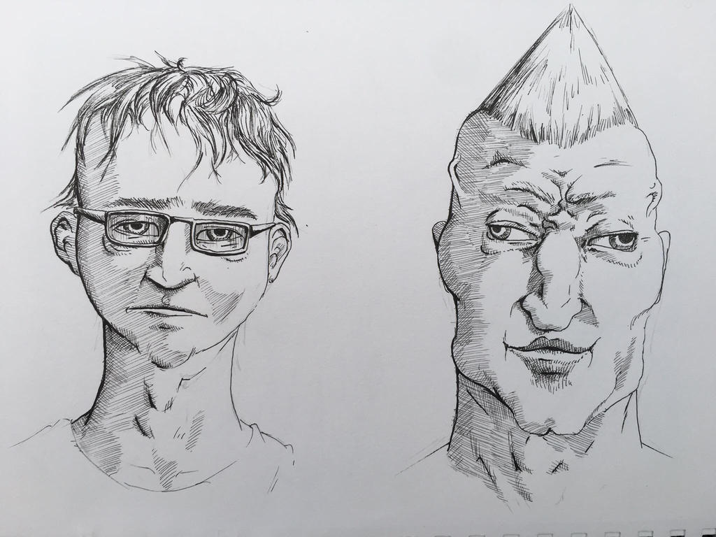 The Virgin Face vs The Chad Portrait by thechadstride