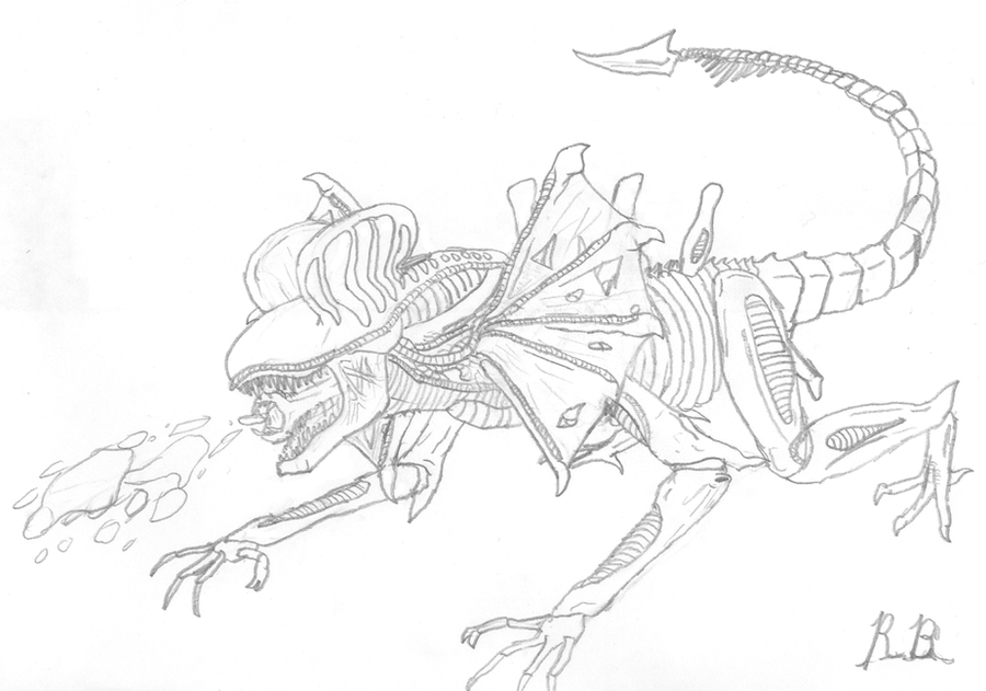 Dino xenomorph hybrid jurassic world forum for Xenomorph coloring pages