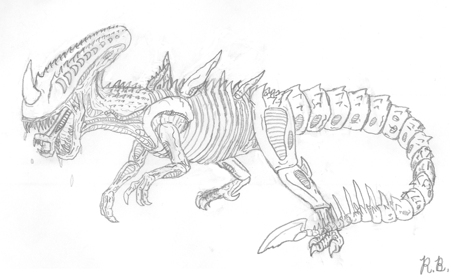 Dino-Xenomorph Hybrid - Jurassic World Forum