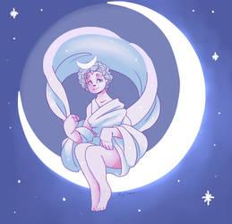 Goddess Selene by nightmaw
