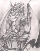 Pensive Dragon by NightfyreKVesia