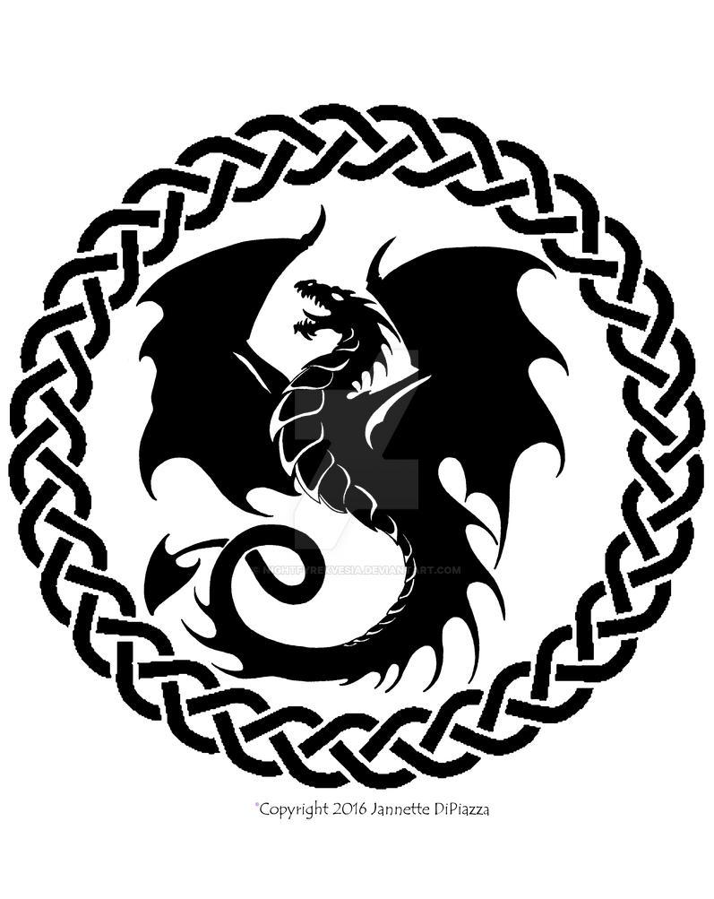 Celtic Dragon Circle by NightfyreKVesia