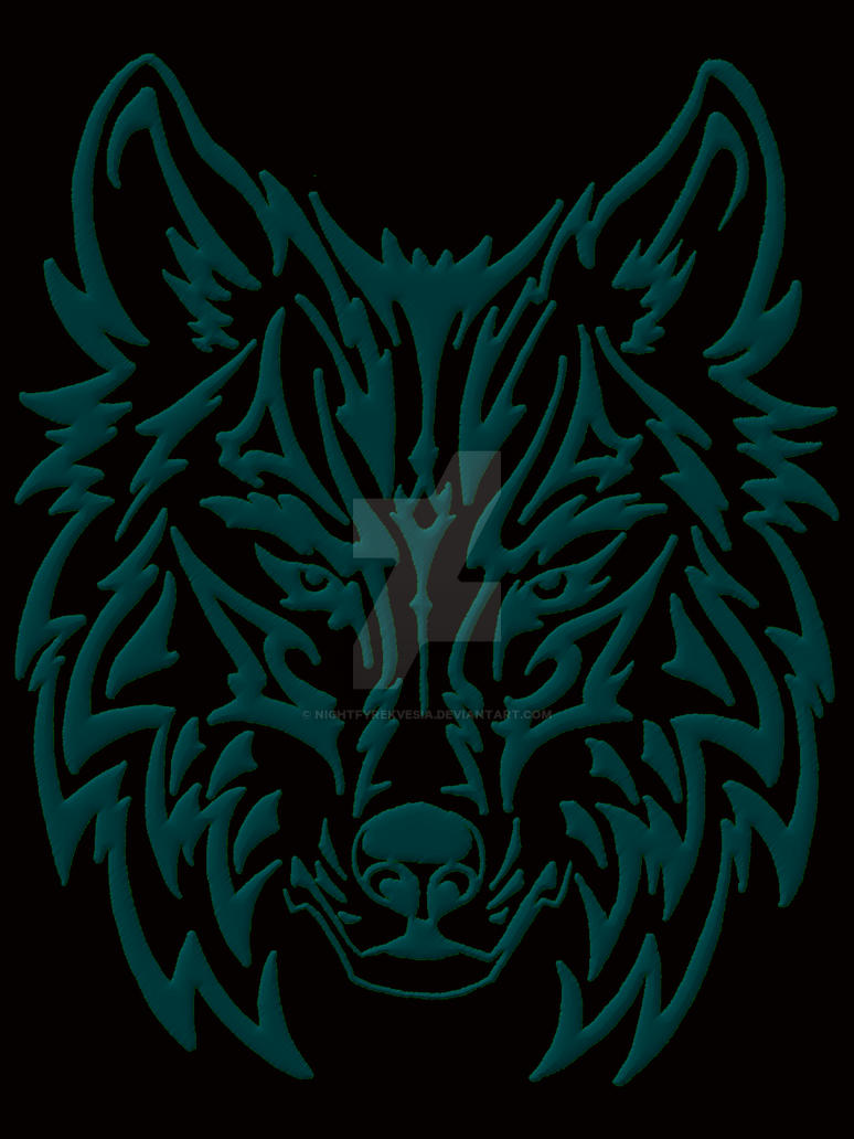 TribalWolfGreyBlack by NightfyreKVesia