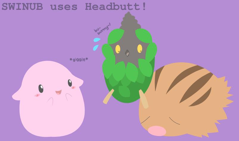 SWINUB uses Headbutt by drill-tail