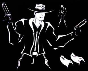 Walking Deads Rick Grimes inks by bennysierraroman