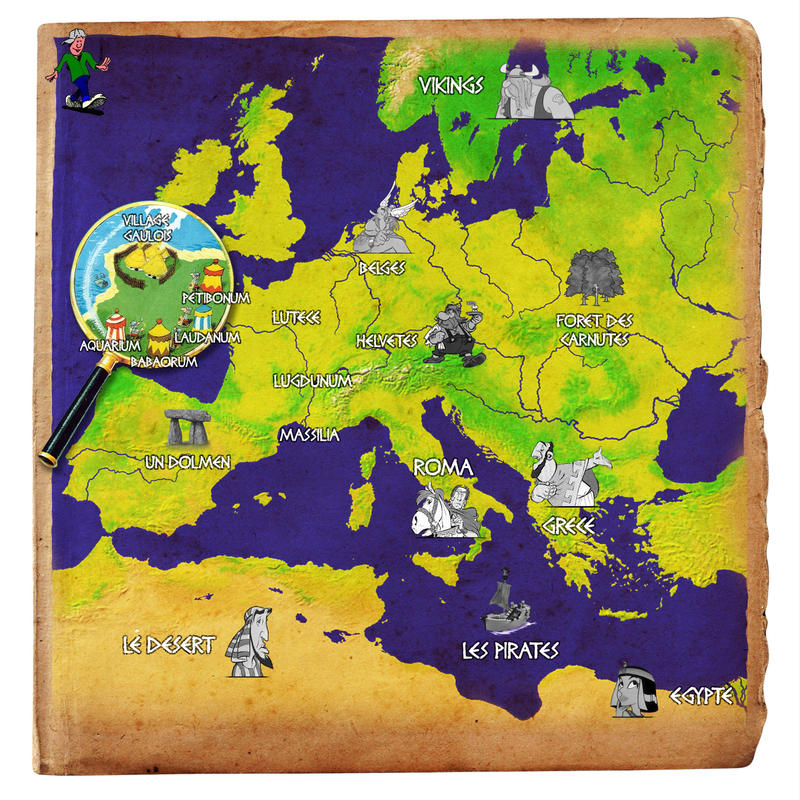 Favori Map Europe - Asterix Theme by Wan-Ka on DeviantArt YX84