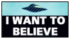 STAMP: The X-Files (I Want to Believe) by neurotripsy