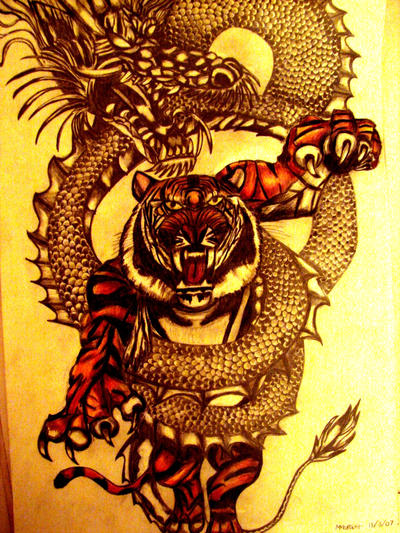 Tiger and dragon by bungies on DeviantArt