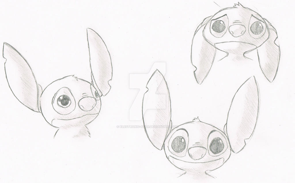Stitch sketches by Electronic-Star