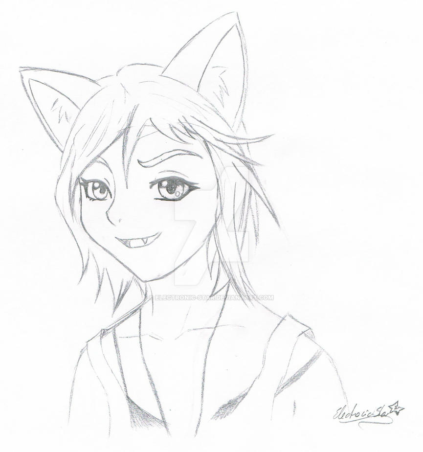 Wolf!Chloe Sketch by Electronic-Star