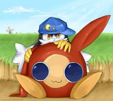 Klonoa and Moo by Akusuru