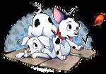 102 Dalmatians [+speedpaint] by Akusuru