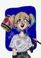 Harley Quinn Six Fanarts by aquareladaalma