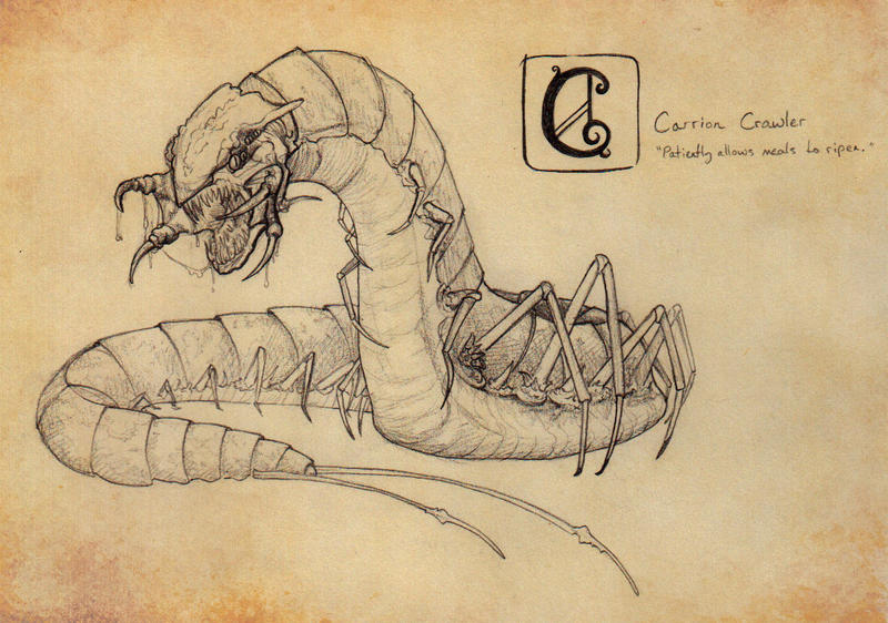 C Is For Carrion Crawler By Saidhbhin On Deviantart
