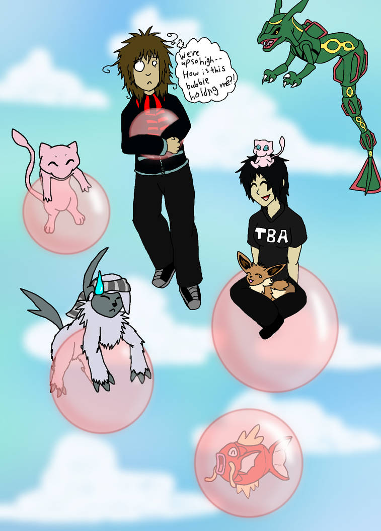 Playing With Bubbles and Pokemon