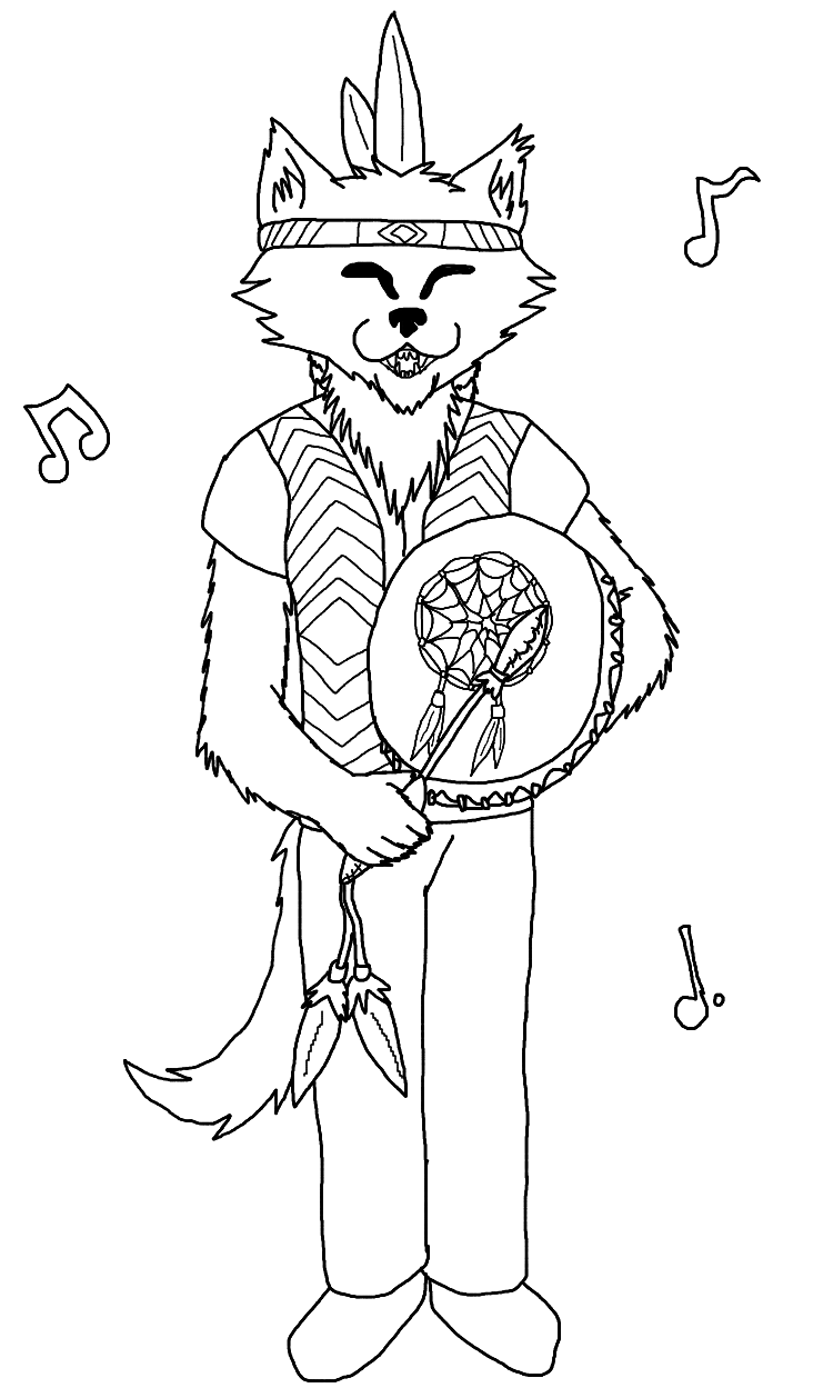 pow wow dancers coloring pages - photo#19