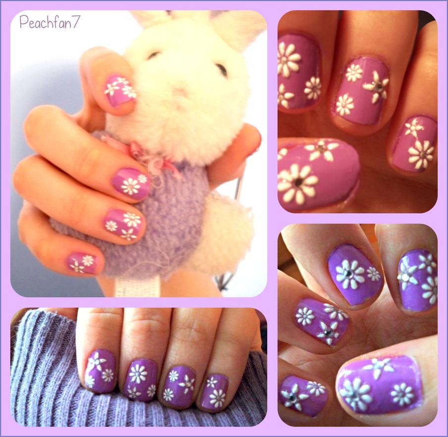Spring Flower Nails By Peachfan7 On Deviantart