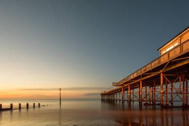 Pier sunrise by Bobbykim666