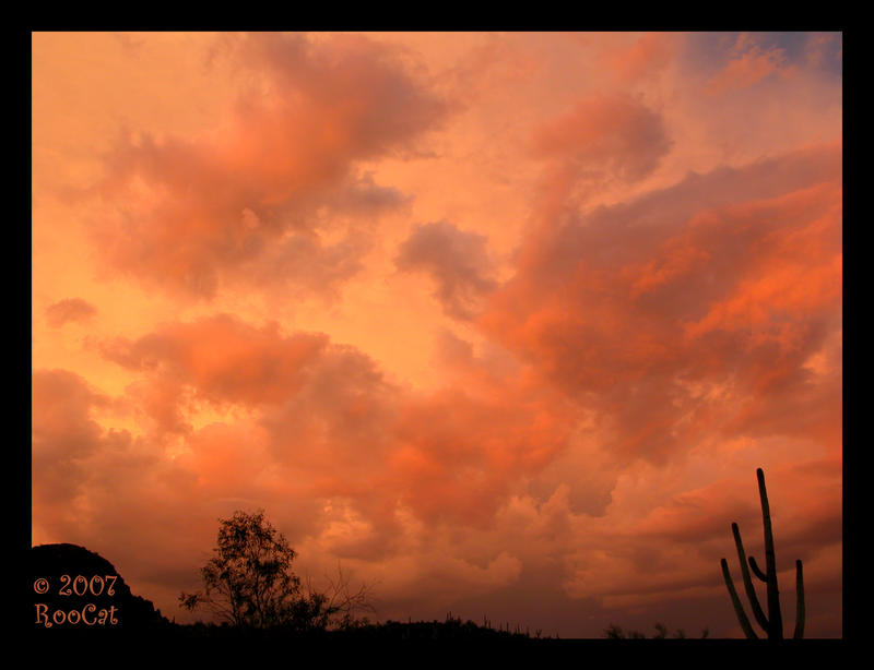 Orange Clouds Monsoon Sunset by RooCat