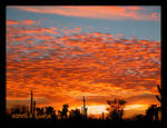 Bright Popcorn Clouded Sunset