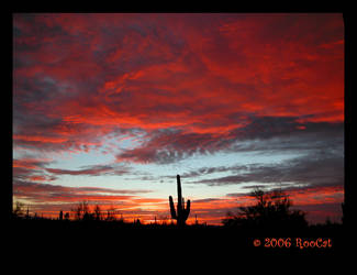 Fiery Molten Maelstrom Sunset by RooCat