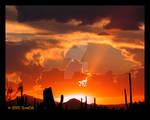 Electric Oranges Sunset Sky