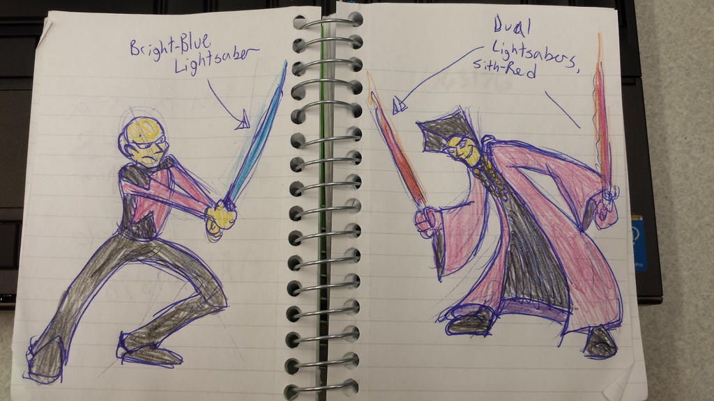 Q vs Picard: Epic lightsaber battle! by Tibby101