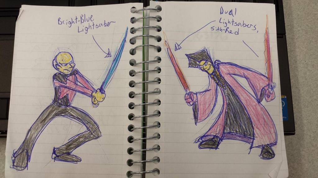 Q vs Picard: Epic lightsaber battle! by Tibby101